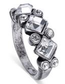 Sam Edelman Metal Glass Ring - Crystal