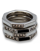 Guess Bay Exclusive Stackable Ring - Silver - 7