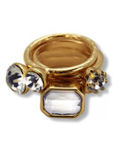 Guess Bay Exclusive Stackable Ring - Gold - 7