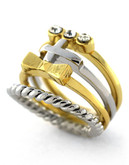 Bcbgeneration Ring Around The Rose Two Tone Ring - Gold
