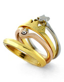 Bcbgeneration Ring Around The Rose Tri Tone Ring - Tri Colour