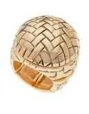 Guess Basketweave Ring - Gold