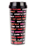 Kate Spade New York Neon Lights Thermal Mug - Black