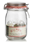 Kilner 1litre glass Cliptop Jar - No Colour