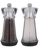 Trudeau Fresco Pepper Mill And Salt Mill 6In - Clear