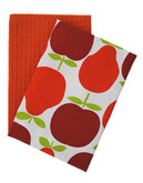 Jamie Oliver Set of 2 Tea Towels - ORANGE - 18 W