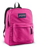 Jansport Superbreak Backpack - Fluorescent Pink