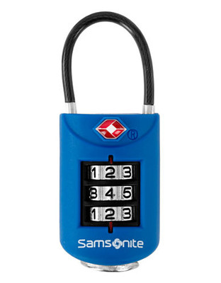 Samsonite Combination Lock - Blue