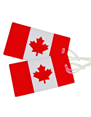 Samsonite 2 Pack Canadian Flag Luggage Tags - Red & White
