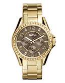 Fossil Womens Riley Standard Multifunction ES3695 - Gold