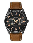 Citizen Mens Eco Dress Strap Watch - Brown