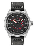 Citizen Mens Avion Watch with Leather Strap - Black