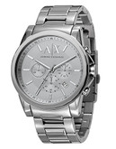 Armani Exchange Men's Round Watch - Silver