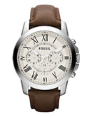 Fossil Mens Grant Leather  Brown Watch FS4735 - Brown