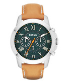 Fossil Grant Chronograph Leather Watch   Tan - Brown