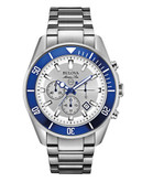 Bulova Bulova Marine Star Men's Chronograph Watch - Silver