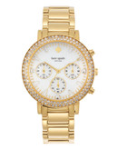 Kate Spade New York Womens   Pave Gramercy Grand Chronograph 1Yru0561 - Gold
