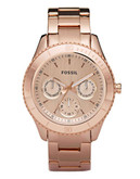 Fossil Stella Rose Gold Plated Stainless Steel Watch - Rose Gold