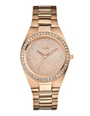 Guess Ladies Rose Gold Tone Watch 40mm W12651L1 - Rose gold