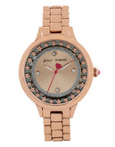 Betsey Johnson Rose Gold Flower Case Watch - Rose Gold