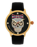 Betsey Johnson Skull Motif Watch - Black