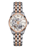 Hamilton Womens Jazzmaster Viewmatic Skeleton Lady Auto Watch - Two Tone