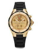 Michele Tahitian Jellybean Black Gold Dial Watch - Gold