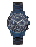Guess Ladies ChronographLook Blue Tone Watch 42mm W0330L6 - Blue