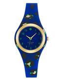 Kate Spade New York Rumsey Neon Leopard Print Watch - Blue