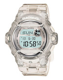 Casio Women's Baby G Pink Clear Silver Watch - Silver