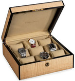 Venlo Blond Collection Fiddleback Maple 9 Watch Case