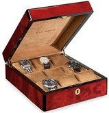 Venlo Triple Burlwood Collection 9 Watch Case