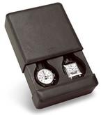 Venlo Italian Leather Collection Biella Grande 2 Watch Travel Case