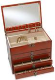 4 Drawer Jewel Box - Mahogany