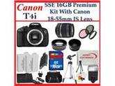 Canon Bundle: Canon EOS Rebel T4i SLR Digital Camera Kit with Canon 18-55mm Is Lens + Many Accessories