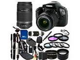 Canon EOS 1100D / Rebel T3 Digital Camera and 18-55mm IS II & EF-S 55-250mm IS II Lenses. Also Includes: Wide Angle & Telephoto Lenses, 7 Pro Filters, Tripod, M