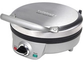 Cuisinart WAF-200 Brushed Stainless Steel Round Belgian Waffle Maker