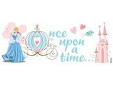 Sticko 434797 Disney Title Dimensional Sticker 7 in. x 2.5 in. -Cinderella - Once Upon A Time...