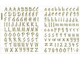 Sticko 242634 Sticko Susy Ratto Brush Letter Stickers 1 in. -Golden Foil