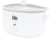 Maxi-Matic Elite Cuisine MST-900VW White 8.5 Qt. Deluxe Sized Slow Cooker