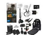 GoPro HERO3: Black Edition Camera (CHDHX-301) + Action Pro Series All In 1 Helmet Kit Designed for helmet biking, skydiving, surfing, horsebackriding, freerunni