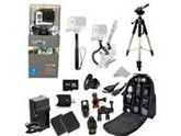 GoPro HERO3: Silver Edition Camera (CHDHN-301) + Action Pro Series All In 1 ATV/Bike Kit Designed for Bike Mount Motorcross, ATV, ROAD, MOUNTAIN, snowmobile + E