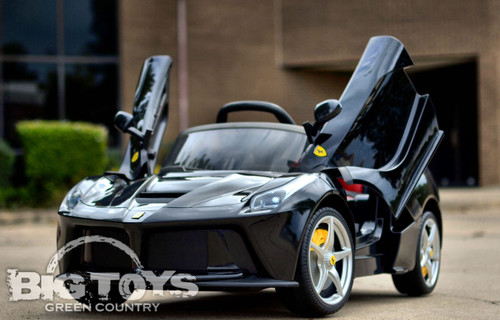12V black Ferrari butterfly doors kids Ride On