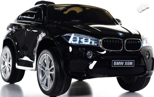 12V BMW X6 SUV Ride On Car w/ remote control & leather seat -Black
