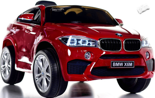 12V BMW X6 SUV Ride On Car w/ remote control & leather seat -Red