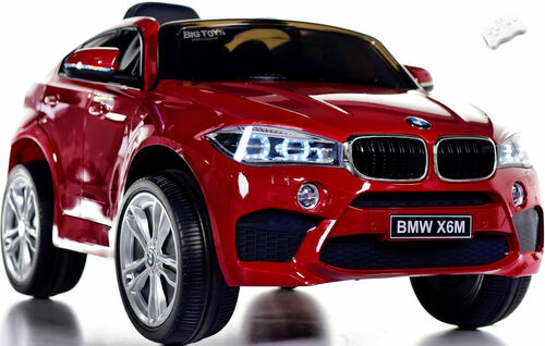 BMW X6 Ride On SUV w/ Remote Control & Leather Seat - Red