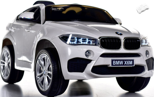 12V BMW X6 SUV Ride On Car w/ remote control & leather seat -White