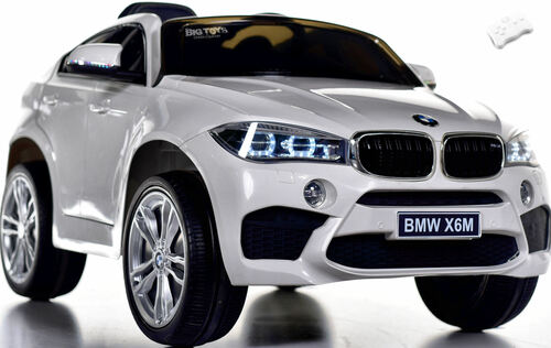 12V BMW X6 SUV Ride On Car w/ remote control & leather seat -White