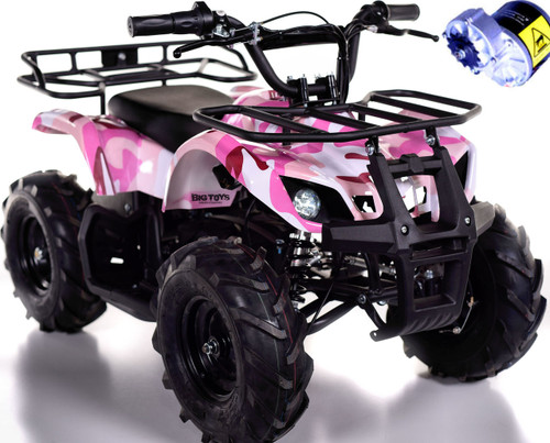 Pink Camo 24v Sahara ATV white background