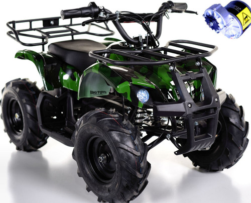 Go-Bowen 24v Sonora ATV Green camo white background